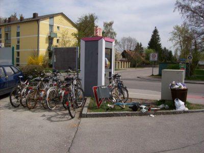 Fahrradstellplatzsituation Neugilching Landsberger Straße