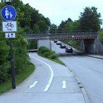 Radweg-Situation am Starnberger Weg