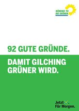 Grünes Wahlprogramm für Gilching