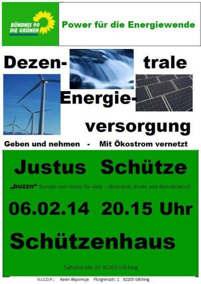 Plakat Dezentrale Energieversorgung