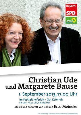 Margarete Bause und Christian Ude