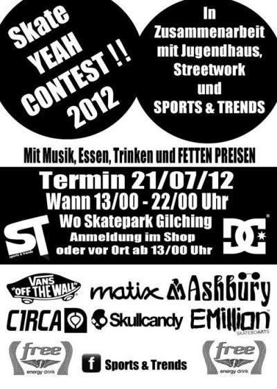 Skate YEAH Contest Plakat