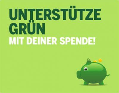 Unterstütze Grün - mit Deiner Spende
