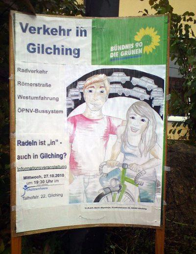 """Plakat zu """"Verkehr in Gilching"""""""