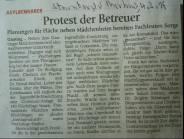 Artikel: Protest der Betreuer