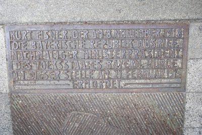 Denkmal Kurt Eisner (Foto: M. Pilgram)