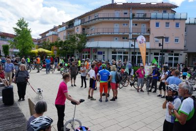 Radldemo Start in Gilching (Fotos: M. Pilgram)