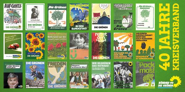 Plakat: 40 Jahre Grüne im Kreis Starnberg