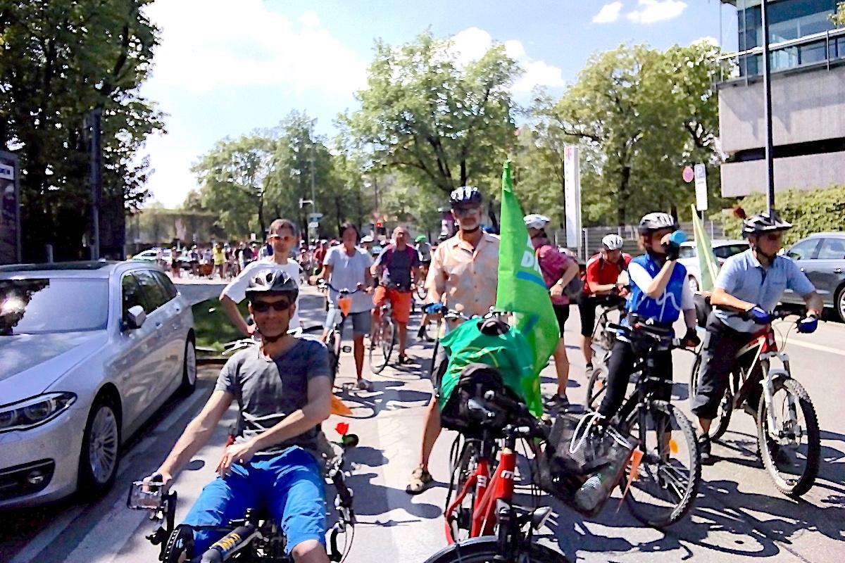 Teilnehmer der Rad-Sternfahrt