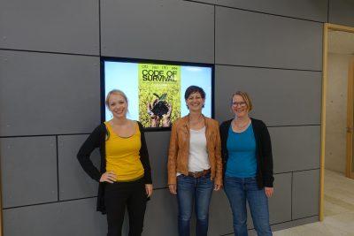 Sigi Hagl zusammen mit Anja Kielmle und Annika Schramm (Foto: M. Pilgram)