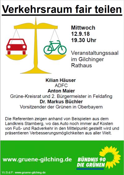 Veranstaltungsplakat zu Verkehrsraum Fair Teilen