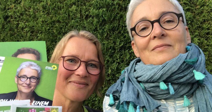 Haustuerwahlkampf mit Anja und Martina