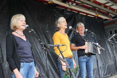 Wellküren auf der Bannwald-Demo (Foto: M.Pilgram)