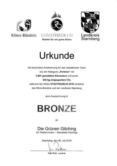 Stadtradel-Urkunde