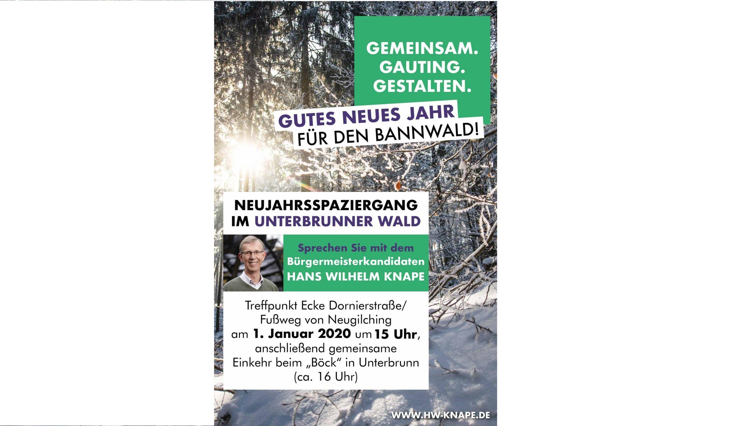 Neujahrsspaziergang im Unterbrunner Holz