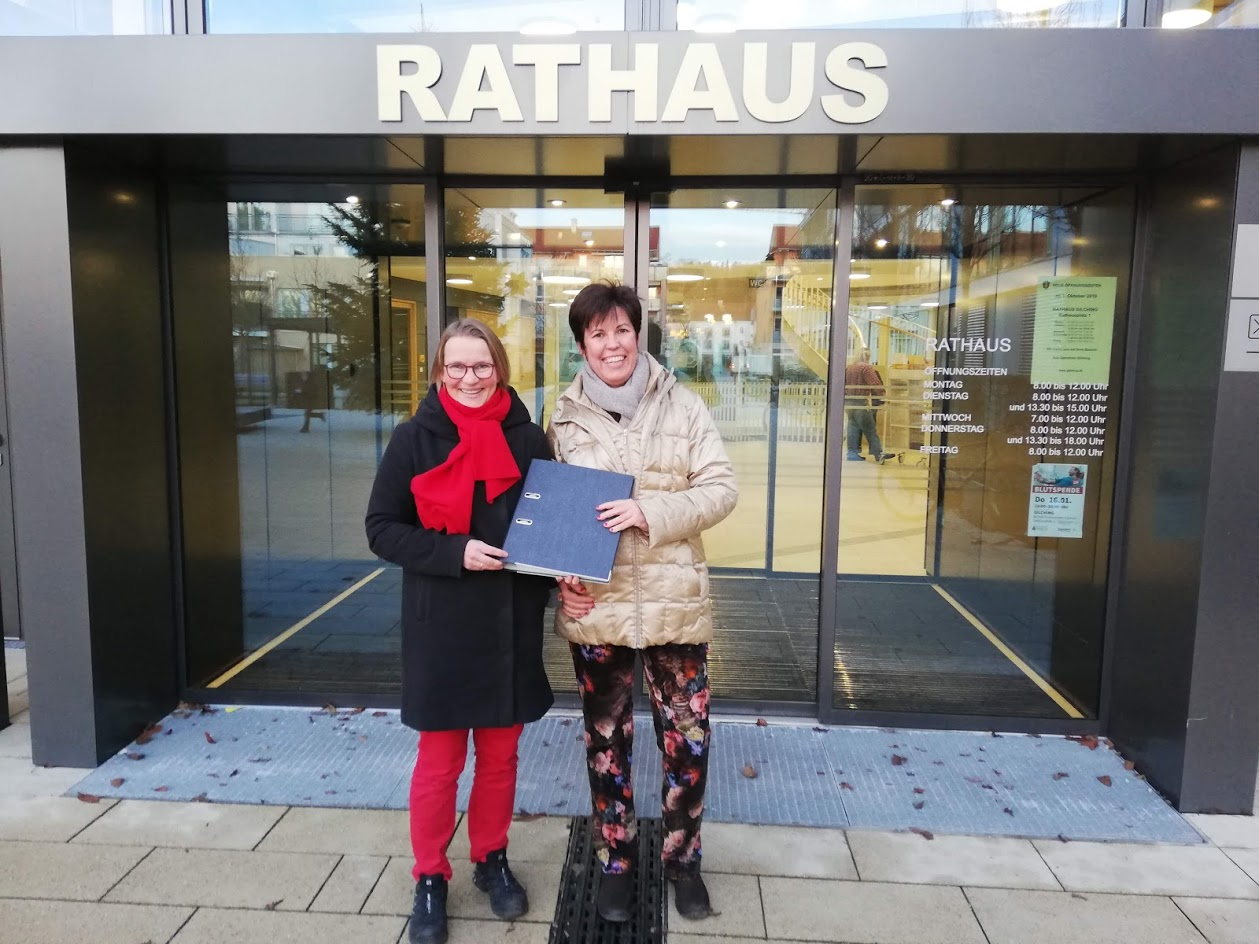 Wahlvorschlag der Gilchinger Grünen im Rathaus abgegeben