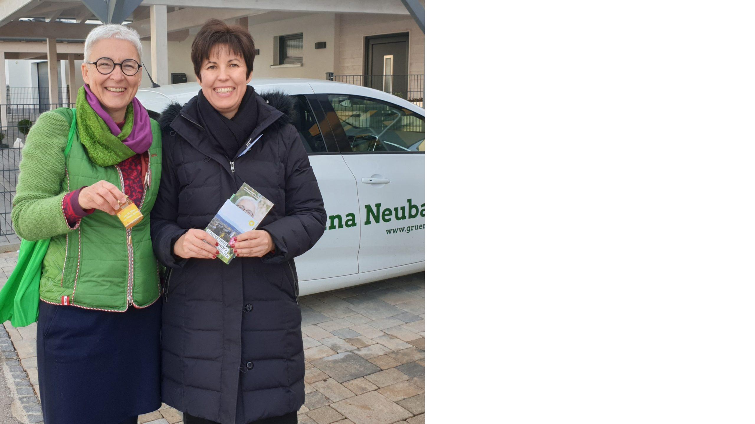 Grün klingelt: Diana Franke und Martina Neubauer unterwegs