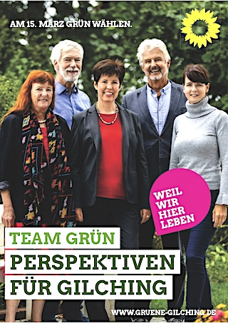 Team Grün - Diana Franke, Martin Pilgram, Dr. Nadine Stephenson, Herbert Gebauer, Gely Proch