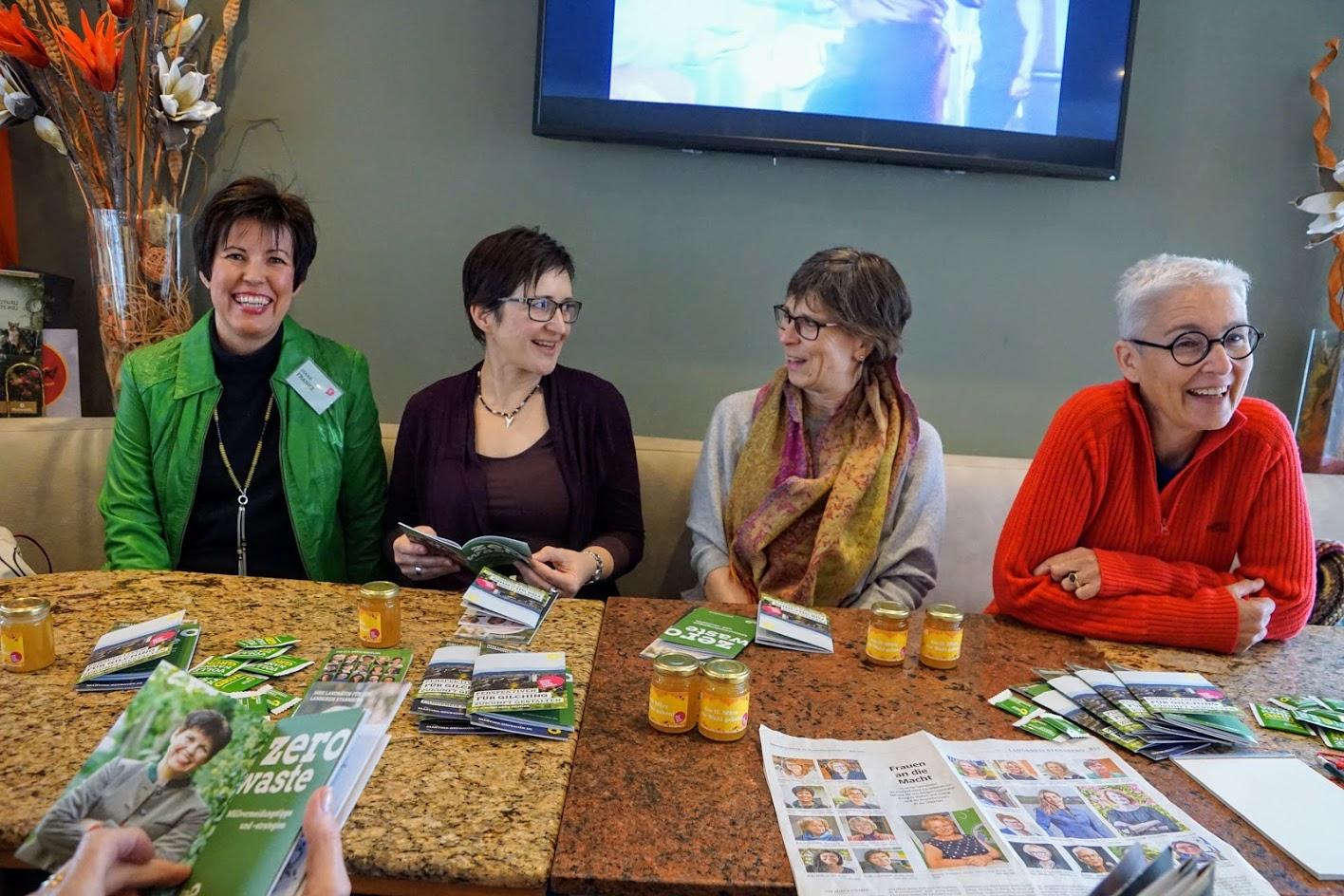 Frauenfrühstück der Gilchinger Grünen mit Diana Franke und Martina Neubauer