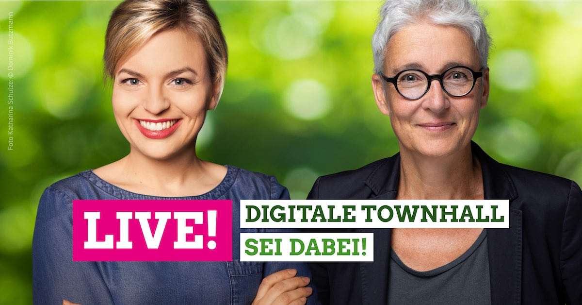 """Online-Event: Martina Neubauer und Katharina Schulze in """"digitaler Townhall"""""""
