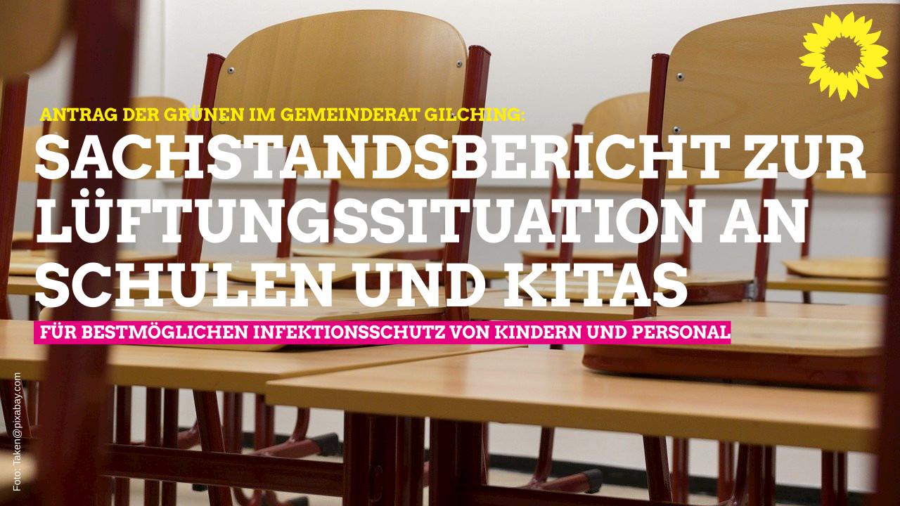 Antrag auf Sachstandsbericht zum Thema Raumluft in Klassenzimmern und Kindertagesstätten