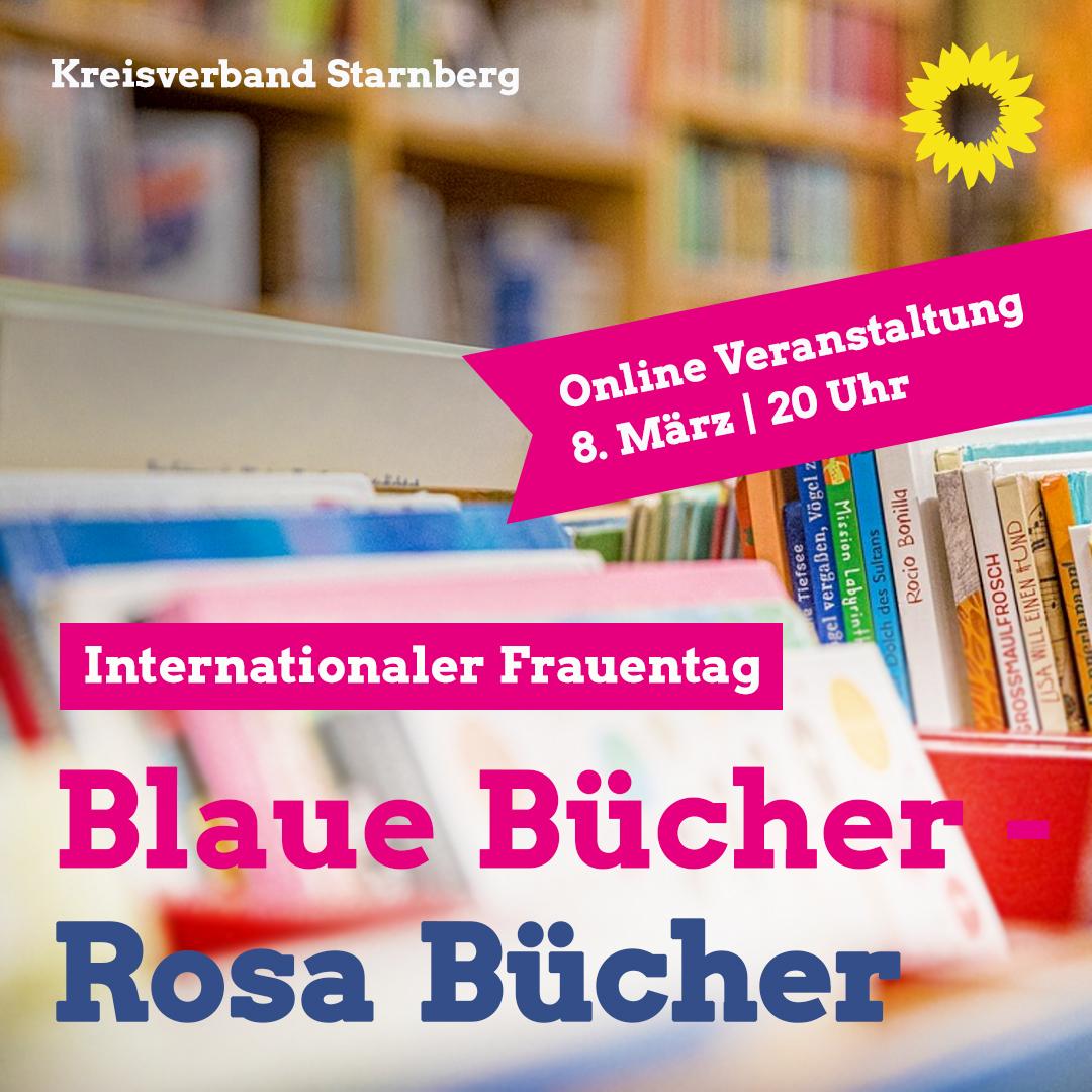 Internationaler Frauentag – blaue Bücher, rosa Bücher…