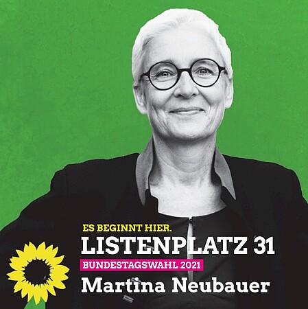 Martina Neubauer auf Listenplatz 31