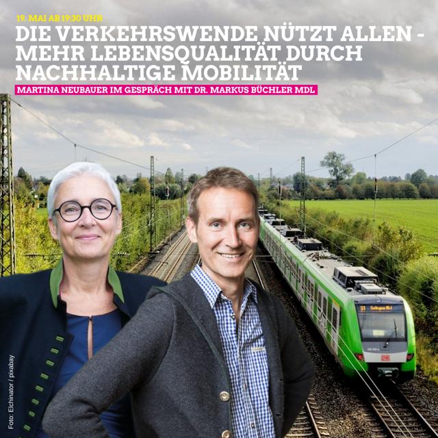 Martina Neubauer lädt ein zur digitalen Verkehrswende-Veranstaltung am Mittwoch, den 19.5. / 19.30 Uhr