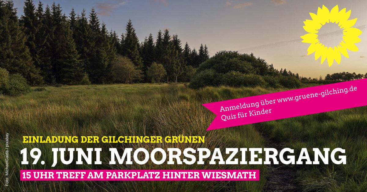 Moorspaziergang mit den Gilchinger Grünen am Samstag den 19.6.